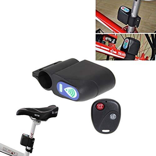 Lanbinxiang@ Alarma de Bicicleta de Alarma de Seguridad inalámbrica Universal con Control Remoto, Material: plástico La Seguridad
