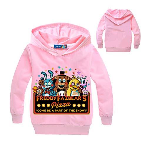 Unisex Five Nights at Freddy'S Sencillas Fashion Sudaderas con Capucha Suelta Ocasionales Impresión Pullover para Niños y Niñas