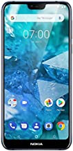 Nokia 7.1 TA-1085 64GB Unlocked GSM 4G LTE Android One Phone w/Dual 12MP|5MP Camera - Blue (Renewed)
