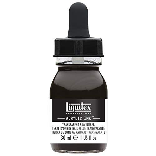 Liquitex 4260333 Ink Professional flüssige Acrylfarben, Tusche, 30 ml, hochpigmentierte Airbrushfarbe, Umbra Gebrannt