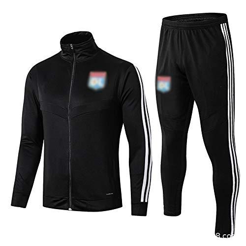 Utility-Player! Training Bekleidung Bekleidung Long Jacke Fußball-Bekleidung Sportswear (Größe auswählen) -kuzt_512 (Color : Black, Size : S)