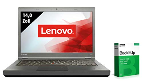 Lenovo ThinkPad T440p | Notebook | 14,0 Zoll | Intel Core i7-4810MQ @ 2,8 GHz | 16GB RAM | 250GB SSD | FHD (1920x1080) | Webcam | Windows 10 Pro (Zertifiziert und Generalüberholt)