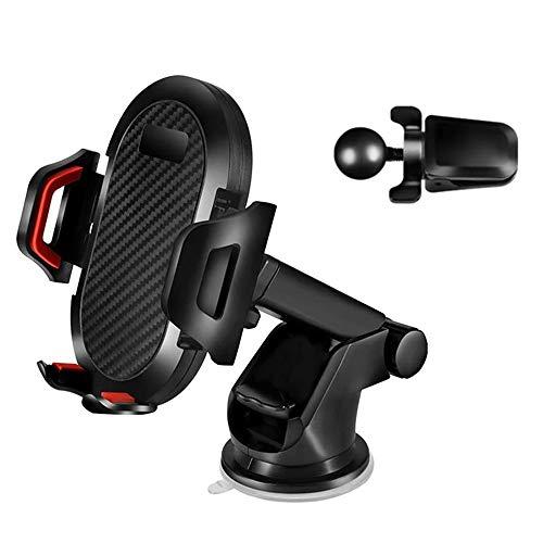 Soporte para teléfono de coche, 3 en 1, soporte para teléfono de coche, soporte de teléfono para salpicadero de coche, rejilla de ventilación