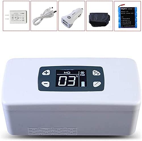 LZXH Refrigerador de Coche Refrigerador portátil Caja refrigerada Pantalla LED Mini refrigerador de Viaje Reefer 2-8 ℃ para Refrigerador USB de Coche de Viaje, con batería Recargable, 15-30H Uso