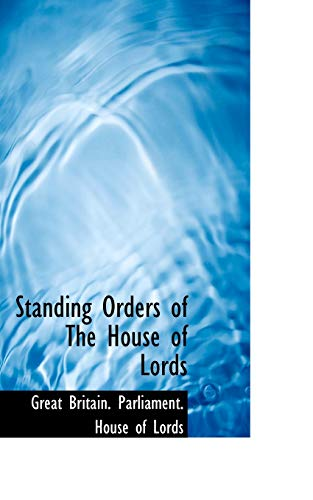 Standing Orders of the House of Lordsの詳細を見る