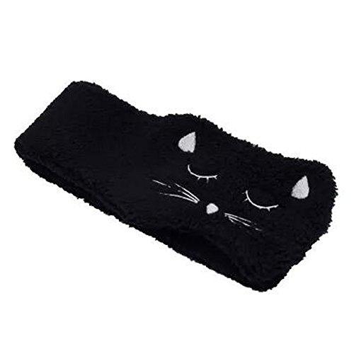 Lovely Cat Wide Side Hair Accessoire Headband Handcraft Hair Band, Noir