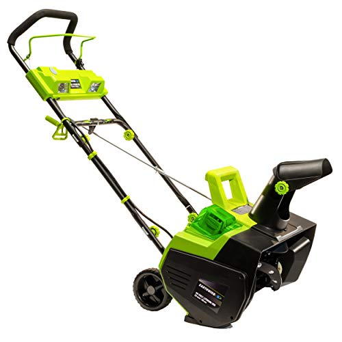 Product Image of the Earthwise SN74022 22-Inch 40-Volt Cordless Electric Snow Thrower, 4.0AH Battery & Charger Included