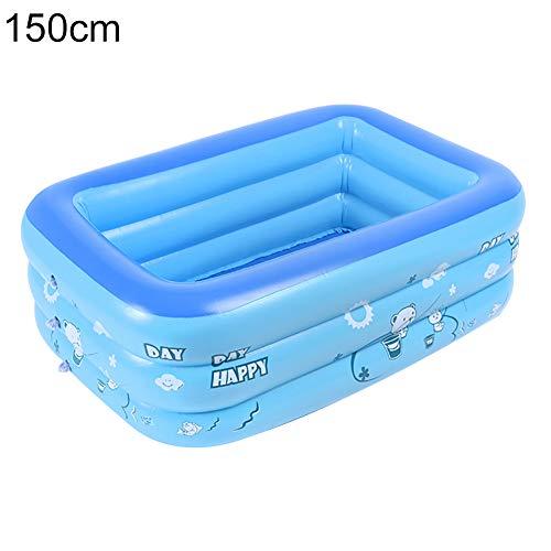 Vwlvrsco Durable Summer Cute Cartoon Inflatable Baby Children Water Play Safe PVC Bathing Tub Graden Swimming Pool 150cm