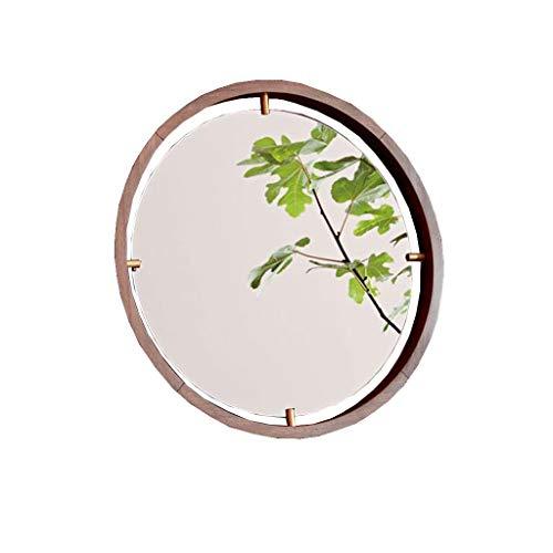 QXHELI Spiegels Spiegels van hout - Japanse badkamers, moderne villa, eenvoudige muur montage spiegels TOILET wastafel niezen guard welkomstspiegels (kleur: (a)