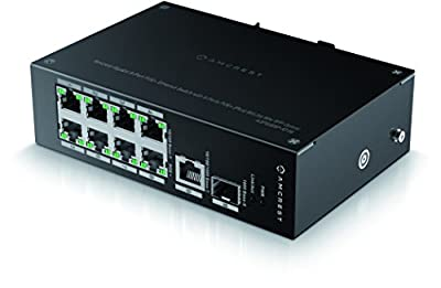 Amcrest Power over Ethernet POE Switch with Metal Housing…