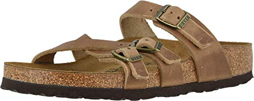 Birkenstock Franca Sandals Narrow Unisex Shoes Size 8, Color: Tobacco Oiled Leather