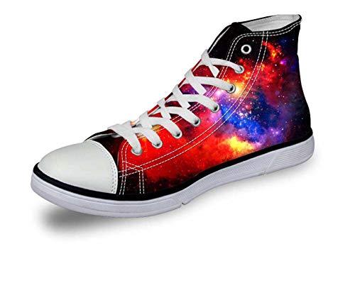 Galaxy Hi Top Ladies Canvas Trainers Shoes Low Top Flat Lace Up Plimsolls Pumps C0165AK Fashion UK 5 = EUR 38 (Women's)