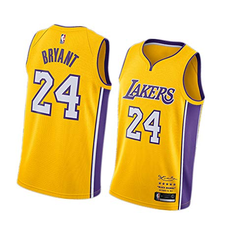 Camiseta con Capucha Kobe Bryant Camiseta Estampada Camiseta de Manga Corta 24 Lakers Camiseta de Baloncesto Unisex Tops Primavera Verano Negro M-4XL