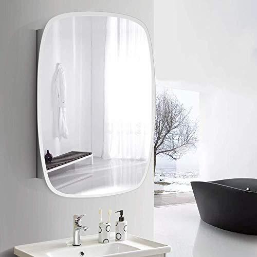 BJYX wandspiegel voor badkamer roestvrij staal medicijnkastje met rechthoek opknoping spiegel woonkamer eetkamer decoratie spiegel