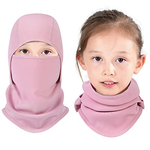 Aegend Kids Balaclava Windproof Ski Face Mask for Cold Weather, 1 Piece, Pink