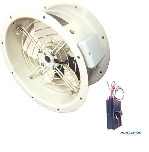 Airtech comercial Axial ventilador Extractor con ventosa toldo de + controlador de velocidad del ventilador (2000W) 4POLE-300MM + Fan Speed Controller