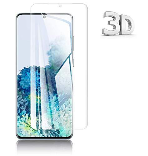 For Galaxy S20 Plus ガラスフィルム ギャラクシー S20+ 5G SC-52A SCG02 フィルム 3D曲面 日本旭硝子製 硬度9H 耐衝撃 極高透過率 強化ガラス 高鮮明 気泡ゼロ 防指紋 液晶保護フィルム 透過率99.9% 液晶保護フィルム 貼り付け簡単
