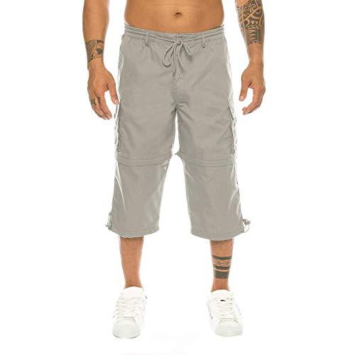 ELECTRI Bermudas Grande Taille Short Lin Homme Pantalons Ete Casual ExtéRieur Poche Travail Plage Baggy pour Hommes Sport Travail Camouflage Short De Bains