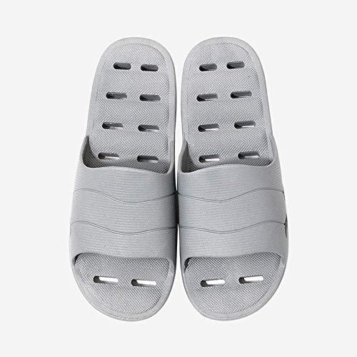 JFFFFWI Sandalias de Ducha Zapatillas Zapatillas de baño de Secado rápido Zapatillas de Gimnasio Zapatillas de Suela Suave con Punta Abierta Sandalias de Playa de Gran tamaño Resistentes al Desgaste