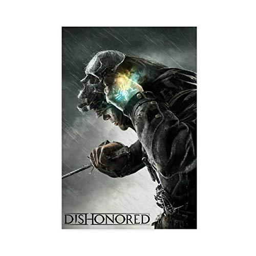 Game Dishonored 10 Leinwand-Poster, Wandkunst, Dekordruck, Gemälde für Wohnzimmer, Schlafzimmer, Dekoration, 30 x 45 cm, ohne Rahmen
