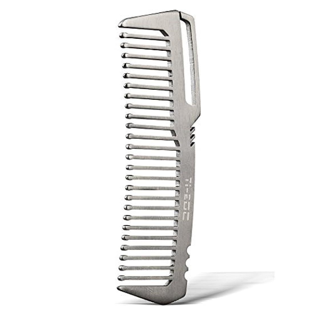 治安判事チャンピオンシップ質素なTI-EDC Titanium Hair Beared Comb Handmade Premium Eco-friendly Durable Pocket Wallet Comb [並行輸入品]
