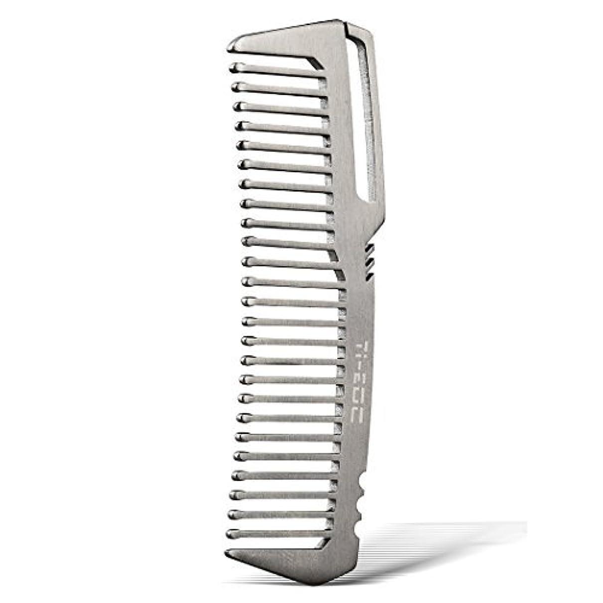シーフードワイヤー数値TI-EDC Titanium Hair Beared Comb Handmade Premium Eco-friendly Durable Pocket Wallet Comb [並行輸入品]