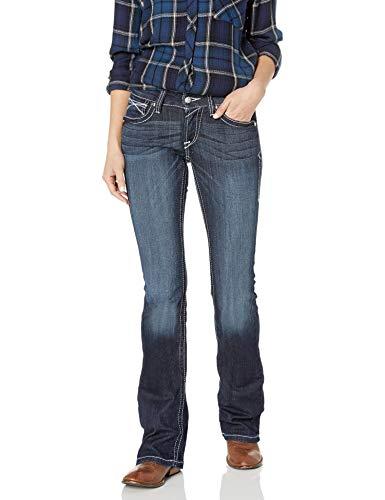Ariat Women's R.E.A.L. Low Rise Boot Cut Jeans, Lakeshore, 32 Long