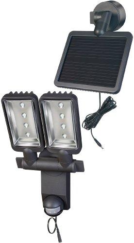 Brennenstuhl 1179410 Éclairage Solaire Projecteur LED Solaire Duo Premium IP44 8 x 0,5 W