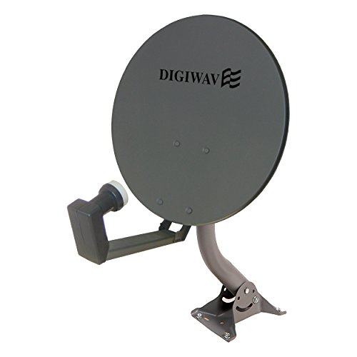 Homevision Technology Satellite Dish Digiwave 18 Inch Offset Satellite Dish, Gray (DWD45T)
