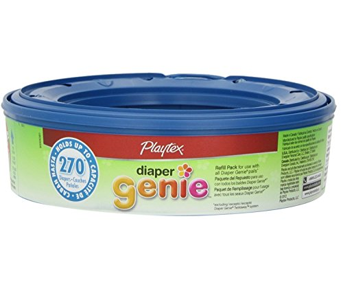 Playtex Diaper Genie Disposal System Refills, 6 pack, up to 270 diapers each (1620 total)