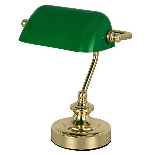 RETRO Tisch Lese Leuchte Banker Lampe Arbeits Zimmer Strahler Nacht Licht grün Globo 24917