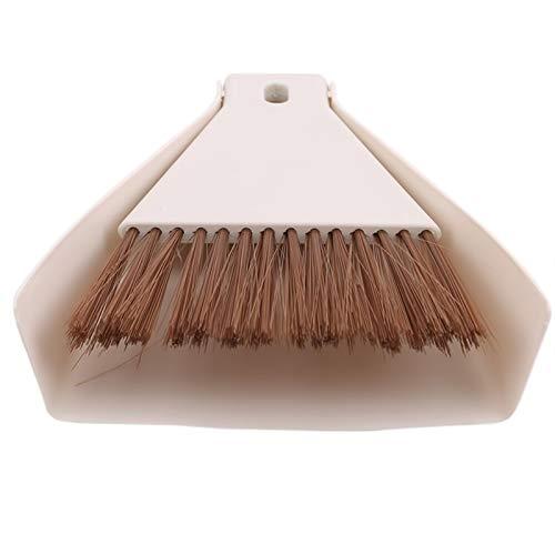Mini Desktop Sweep Cepillo de Limpieza Conjunto de Dos Piezas Cepillo de Teclado Beige Small Broom Dustpan Set para la Oficina de la Escuela de hogar Cepillo Limpio (Color : Beige)