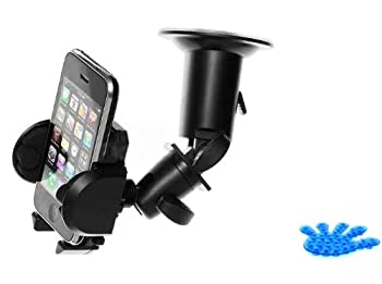 Universal Windshield Car Window Mount Dock Suction Cup Holder Cradle for Verizon Casio G-zone Commando Comes with Suction Phone Holder