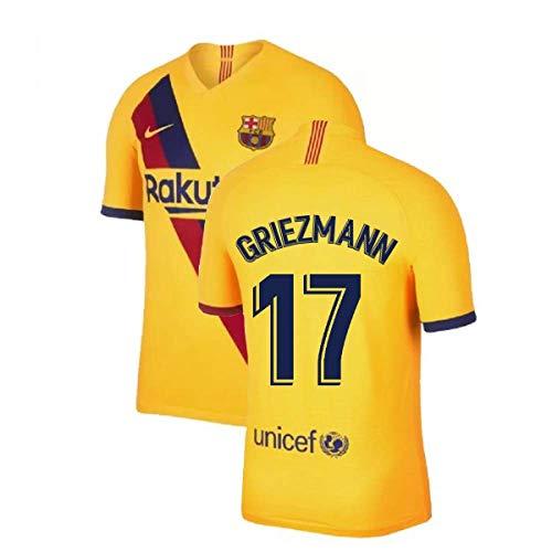 2019-2020 Barcelona Away Nike Football Soccer T-Shirt Trikot (Kids) (Antoine Griezmann 17)