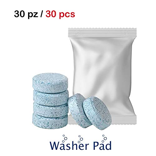 1neiSmartech Detergente Liquido Lavavetri in Pastiglie Effervescenti per Pulizia dei Vetri e del Parabrezza Auto Multiuso per la Casa e Superfici (Confezione da 30 Pezzi)