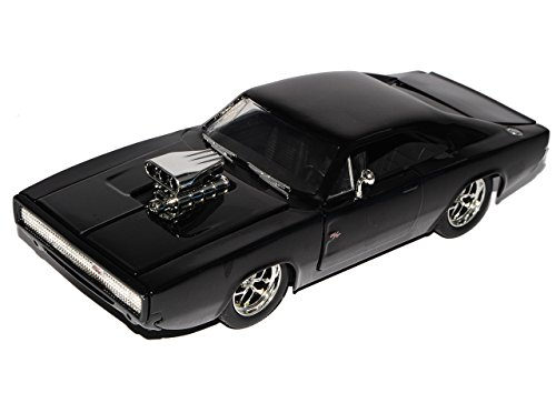 Dodge Charger R/T Dom´s Muscle Cars Coupe Schwarz Fast and Furious 7 1970 1/24 Jada Modell Auto mit individiuellem Wunschkennzeichen