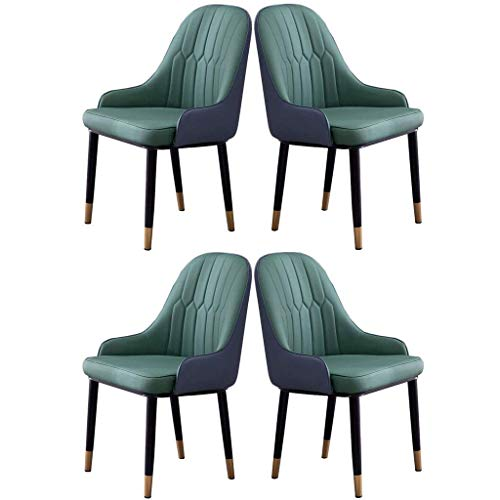 N/Z Tägliche Ausrüstung Moderner Küchen-Esszimmerstuhl aus Leder mit Kissen Akzent-Seitenstuhl 4er-Set Für Wohnzimmer Freizeit Mädchen Schlafzimmer Make-up Hocker Sofa Sitz (Farbe: E)