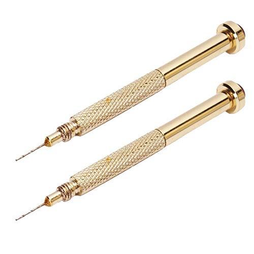 Sungpunet 2Pcs Nail Art Pen Forets Or la main Drill Dangle Pierce Piercing Nail Art Gel UV Conseils peinture Dessin Sculpture outil utile et beau polonais