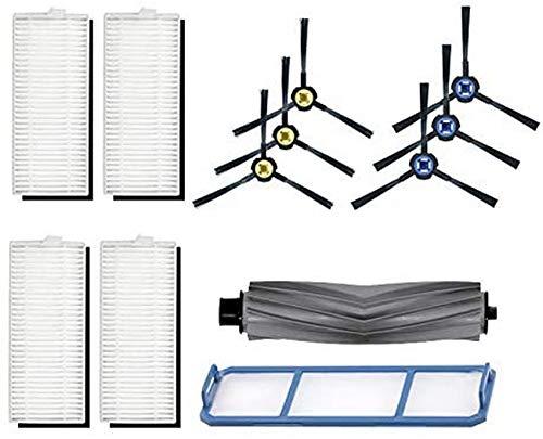 YZ-YUAN 12 pièces Robot Brosse en Caoutchouc + Filtre pour Ilife A7 A9S Sweeper Remplacement Balayage de Sol Nettoyage aspirateur Accessoires