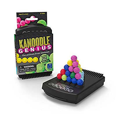Educational Insights Kanoodle Genius | Brain Twisting 3-D Puzzle Game for Kids, Teens & Adults | Featuring Over 200 Challenges from Educational Insights