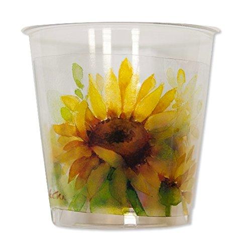 Exclusive Trade Bicchieri Kristall Stampati Sunflower 300Ml 8Pz