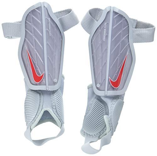 Nike Kinder Protegga Flex Guard Schienbeinschoner, Wolf Grey/Pure Platinum/Bright Crimson, M/130-140 cm