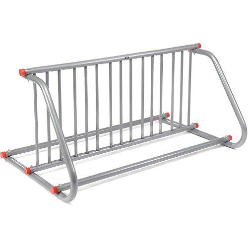 59-3/4'L Grid Bike Rack, Double Sided, Powder Coated Steel, 10-Bike Capacity