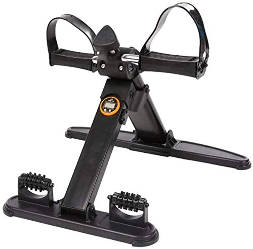 SMSOM Pedal médico Plegable ejercitador con visualización electrónica de piernas y Brazos Entrenamiento, Multifuncional Mini Pedal de Bicicleta estática ejercitador