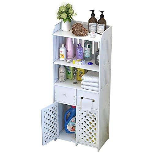 LOHOX badkamer kast dubbele deur hoge vloer staande eenheid badkamer meubels kasten, plank opslag rack hiërarchische indeling voor badkamer slaapkamer keuken hal