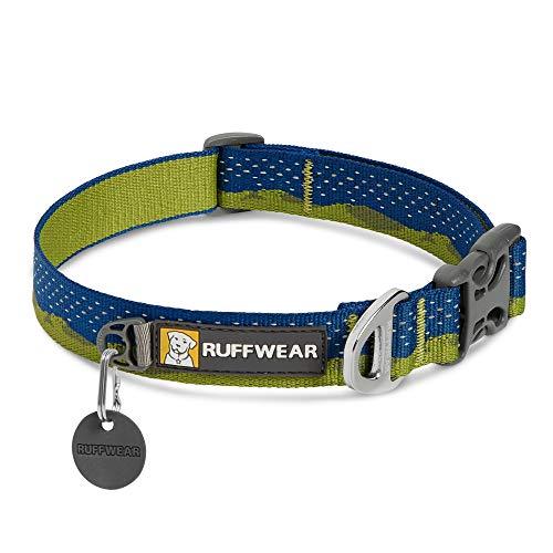 RUFFWEAR Obroża dla psa, odblaskowa i wygodna obroża do codziennego użytku, zielone wzgórza, 28 cm - 35 cm