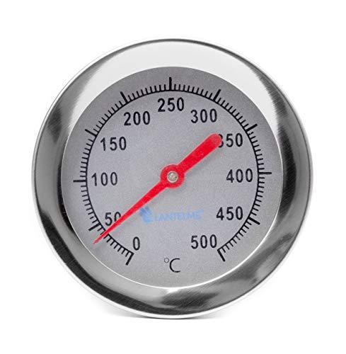 Lantelme Grill Thermometer 500°C 30cm lang mit Gewindekonus zum Einbau an Pizzaofen Holzbackofen Steinofen analog 2098