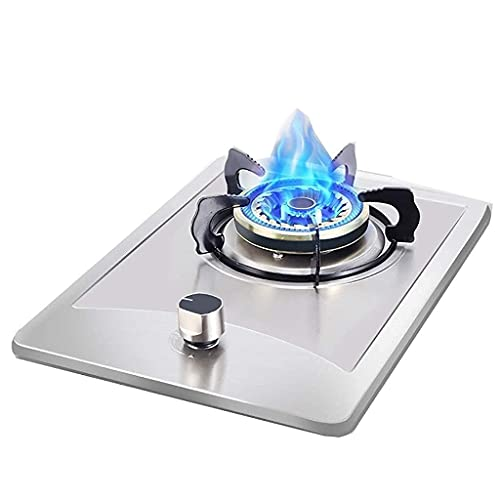 New Gas Cooker, Gas Stove,Stainless Steel Gas Cooktop, Cooking Portable Hob, Benchtop/Embedded Single Cooker ,With Flameout Protection, Easy to Clean, Compatible with All Cookware [Energy Class A]