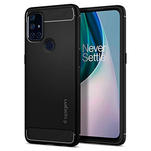 Spigen Funda Rugged Armor Compatible con Oneplus Nord N10 5G - Negro Mate