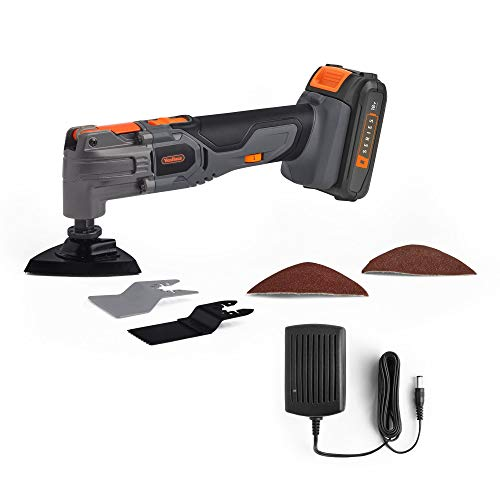 VonHaus E-Series 18V Cordless Oscillating Multitool – Wireless Multi-Purpose Cutter, Scraper & Sander – Versatile Battery-Operated Multitool – 2.0 Ah Battery and Charger Included